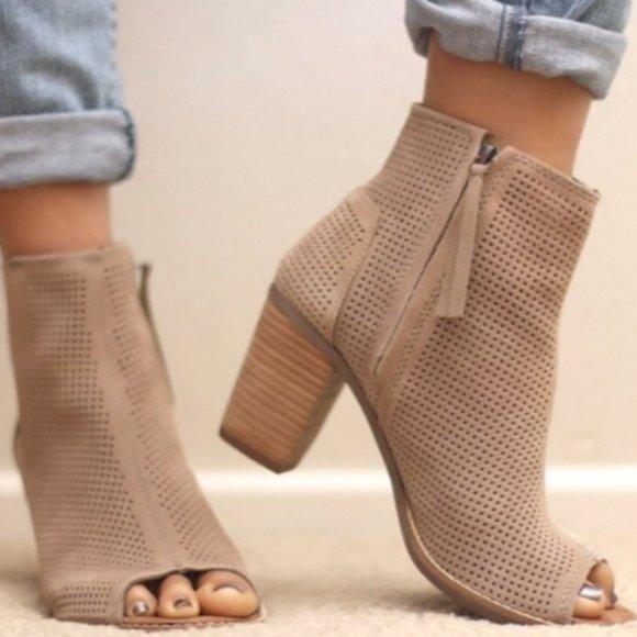 Toms Shoes | Majorca Open Toe Booties